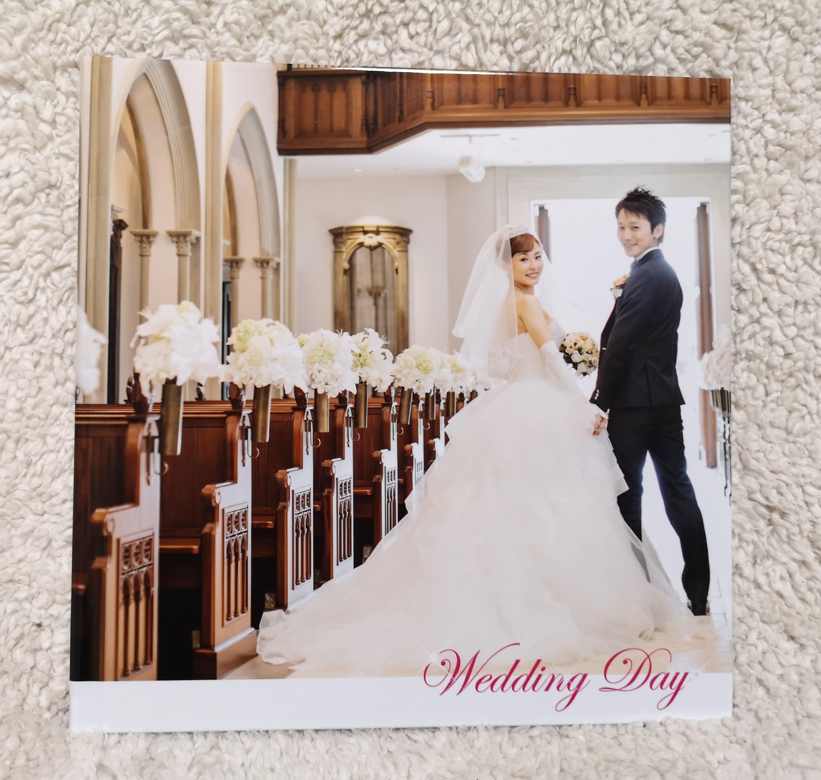 結婚式におすすめフォトブック画像ーマイブックフォトブックー表紙